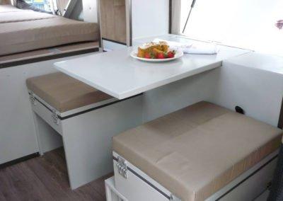 Afrispoor offroad caravan inside table